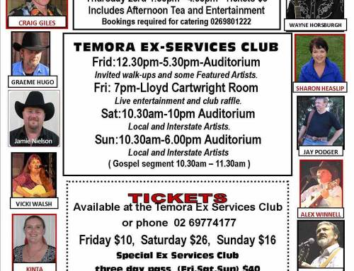 Temora Country Music Festival – 23rd to 26th November 2017
